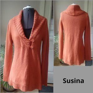 Susina Shawl Collar Apricot Cardigan